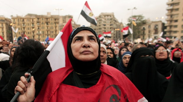 Egyptian woman in Cairo's Tahrir Square, 2012