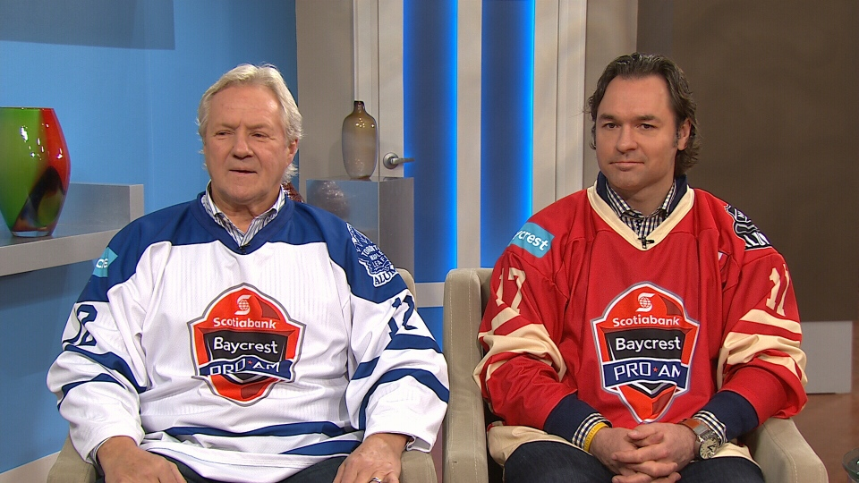 Former Toronto Maple Leafs players Darryl Sittler and Darcy Tucker appear on CTV's Canada AM on Tuesday, April 8, 2014.