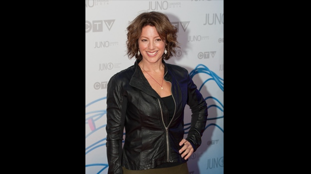 Sarah McLachlan on the Juno Red Carpet.