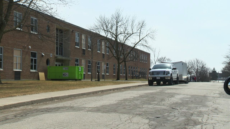 Huron Park Secondary School in Woodstock, Ont., is seen on Tuesday, April 8, 2014.
