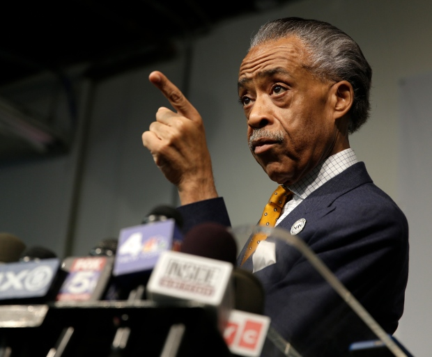 Al Sharpton speaks at news conference
