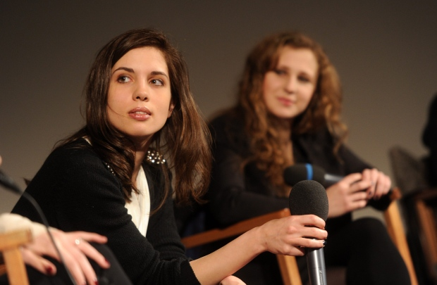 Pussy Riot members at press conference