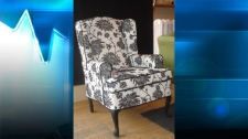 An example of a chair recovered and transformed.