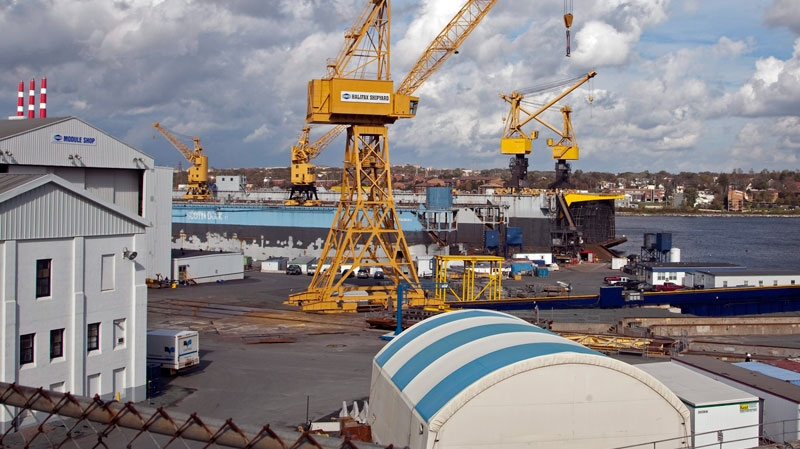 The Halifax Shipyard, owned by Irving Shipbuilding, is seen in Halifax on Tuesday, Oct. 18, 2011.  (Andrew Vaughan / THE CANADIAN PRESS)