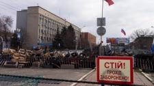 Barricades in Luhansk, Ukraine