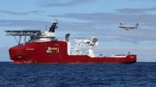 Australian AP-3C Orion flies past Ocean Shield