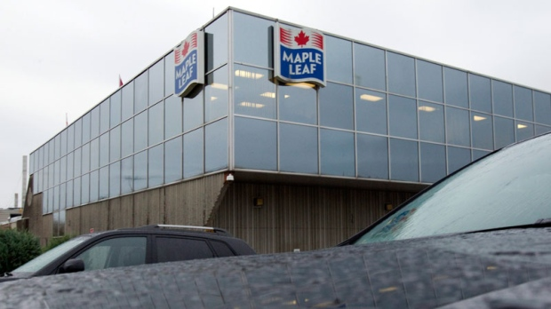 A Maple Leaf Foods plant in Toronto is shown on Wednesday Oct. 19, 2011.  (Frank Gunn / THE CANADIAN PRESS)