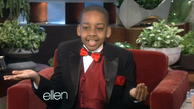 "Daniel Clarke Bouchard makes an appearance on the ""Ellen"" show."