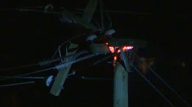 Fire crews are dealing with a number of power pole fires in Calgary and ENMAX is working to get power restored to the affected communities on Wednesday morning.