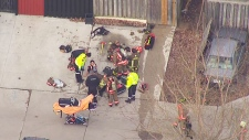 Toronto firefighter rescued from building