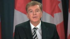 Francois Guimont, the deputy minister of Public Works Canada makes an announcement in Ottawa, Wednesday, Oct. 19, 2011.