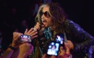 Steven Tyler of Aerosmith performs at the Whisky A Go Go on Tuesday, April 8, 2014, in Los Angeles. (AP / John Shearer)