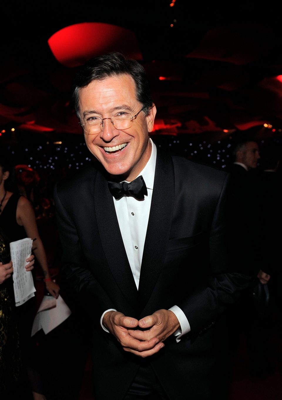 TV personality Stephen Colbert at the 64th Primetime Emmy Awards Governors Ball in Los Angeles, Sept. 23, 2012. (AP / Chris Pizzello)