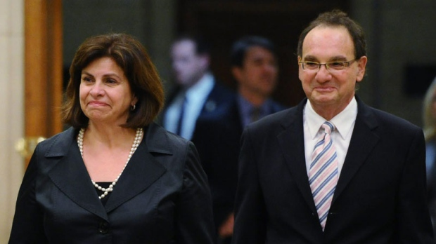 Justice Michael Moldaver and Justice Andromache Karakatsanis appear before the Ad Hoc Committee on the Appointment of Supreme Court of Canada Justices on Oct. 19, 2011