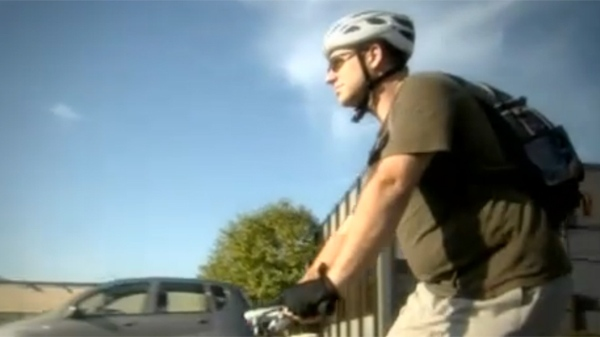 Craig D'Orsay traded his car for a bicycle, and is saving himself 20 minutes a day on his commute (Oct. 20, 2011)