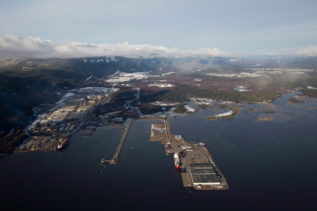 Douglas Channel in Kitimat, B.C.
