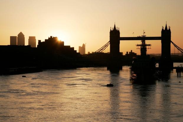 London skyline and Tower Bridge