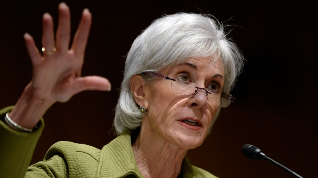 Kathleen Sebelius on Capitol Hill