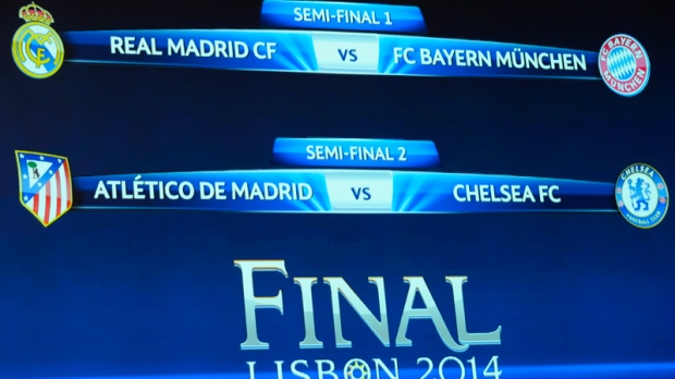 Real Madrid, Bayern Munich, Atletico Madrid, Chelsea in Champions