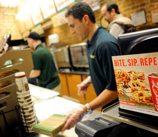Seth Davis serves a flatizza