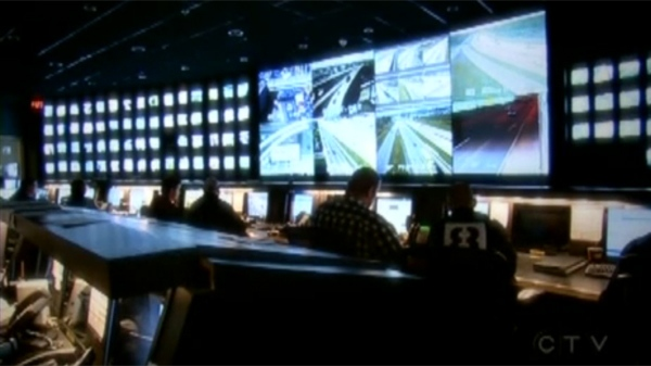 Inside Montreal's Traffic Control Centre, people keep on an eye on commuting across the city (Oct. 20, 2011)