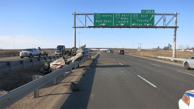 QEII highway, rcmp, police, calgary crime watch, d