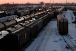 Rail cars wait for pickup in Winnipeg, Sunday, March 23, 2014. (John Woods  / THE CANADIAN PRESS)