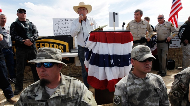 Rancher Cliven Bundy, middle
