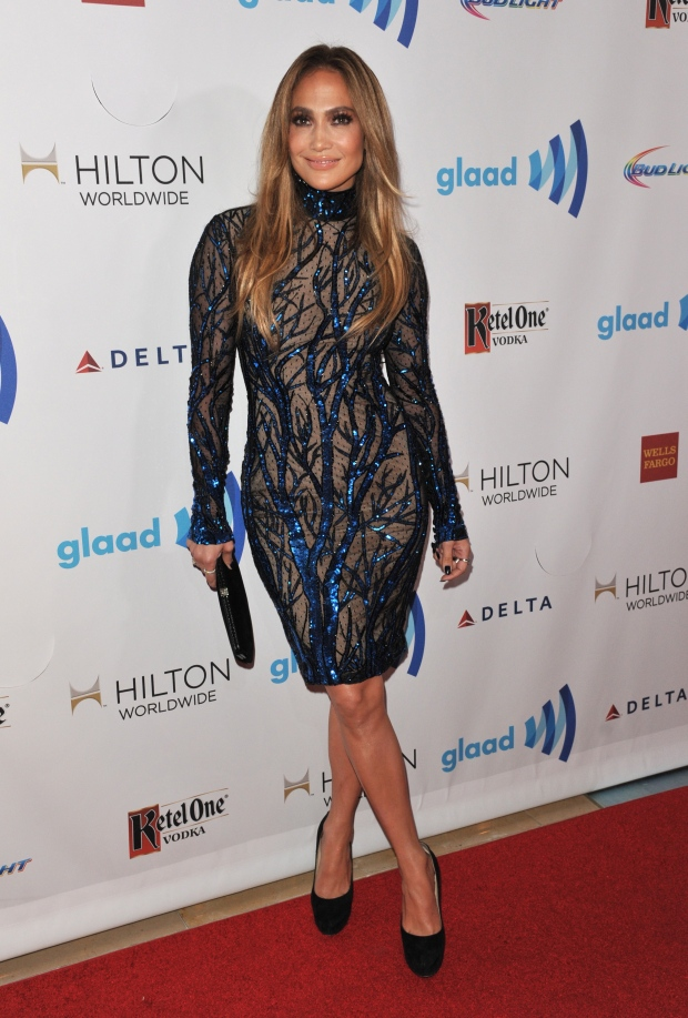 Jennifer Lopez at the 25th Annual GLAAD awards