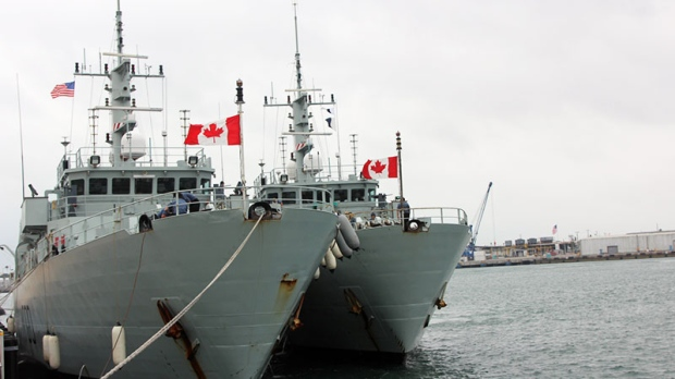HMCS Kingston and Glace Bay