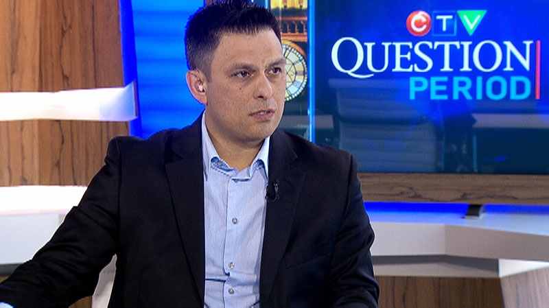 Peter Dinsdale of the Assembly of First Nations appears on CTV's Question Period on Sunday, April 13, 2014.