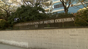The Insurance Corporation of British Columbia's Vancouver headquarters is shown in this file photo. (CTV)