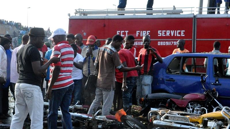 Scene of explosion at Nyanya Motor Park, Abuja