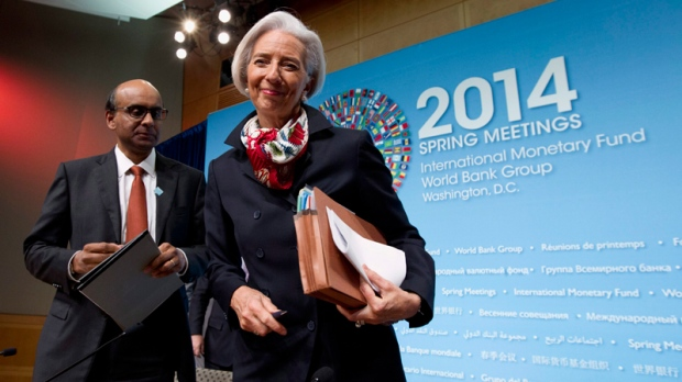 Christine Lagarde, right, & Tharman Shanmugaratnam