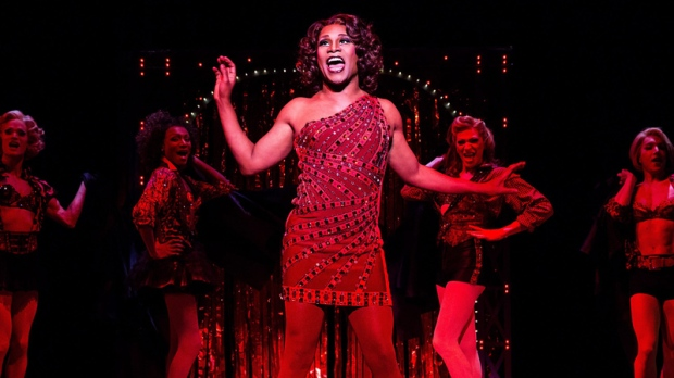 Billy Porter during a performance of 'Kinky Boots'