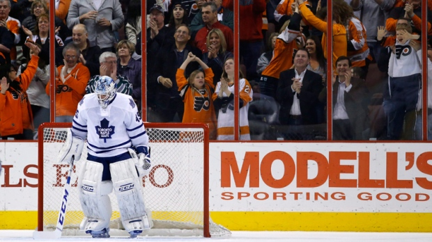 Maple Leafs' Jonathan Bernier in Philadelphia