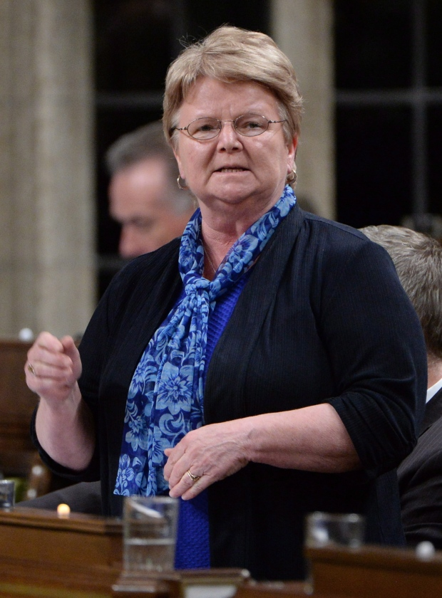 Fisheries Minister Gail Shea speaks in the House