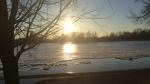 CTV Viewer Barb Zappa sent in this photo of the Rideau River burting its banks in Osgoode, Ont. (Barb Zappa/CTV Viewer)