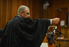 South African state prosecutor Gerrie Nel in court