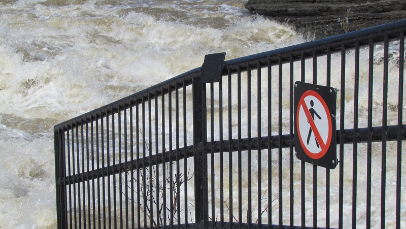 A file photo of the Hog's Back Falls during the spring runoff. (Anne Maurais/MyNews)