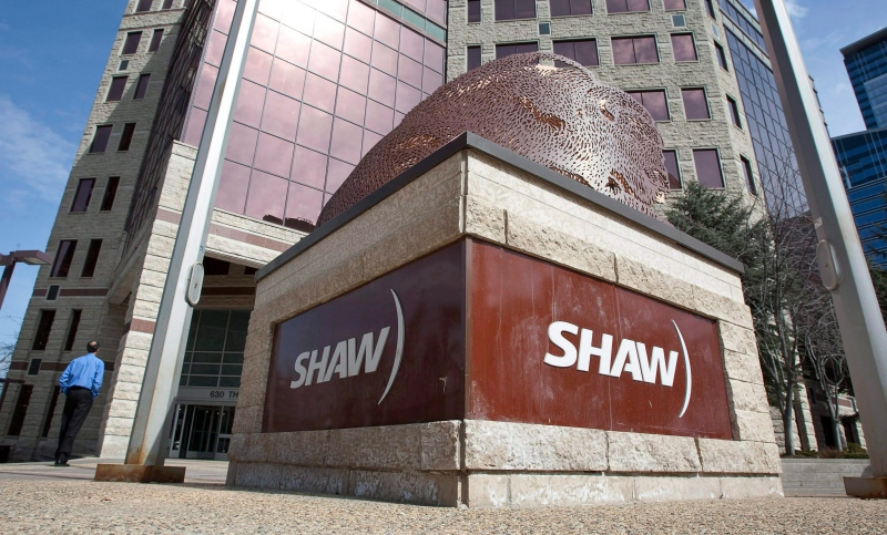 A Shaw Communications sign is shown in this file photo. (The Canadian Press/Jeff McIntosh)