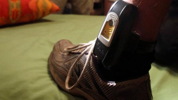 GPS ankle bracelet locater