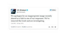 US Airways apologizes for tweeting lewd image