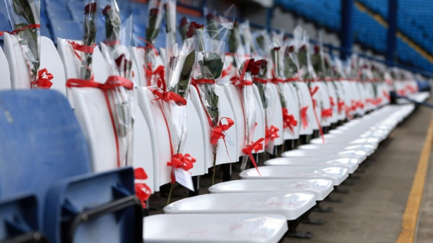 Whites seats tribute at Hillsborough stadium