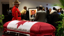 Dignitaries gather at visitation for Jim Flaherty