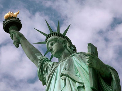 In this June 2, 2009 file photo, the Statue of Liberty is seen in New York harbor.(AP Photo/Richard Drew, File)