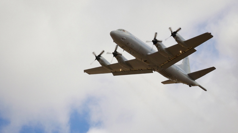 A Royal New Zealand Air Force P3 Orion takes off from Royal Australian Air Force Base Pearce in Perth, Australia, International Airport Wednesday, April 16, 2014. (AP / Richard Wainwright)