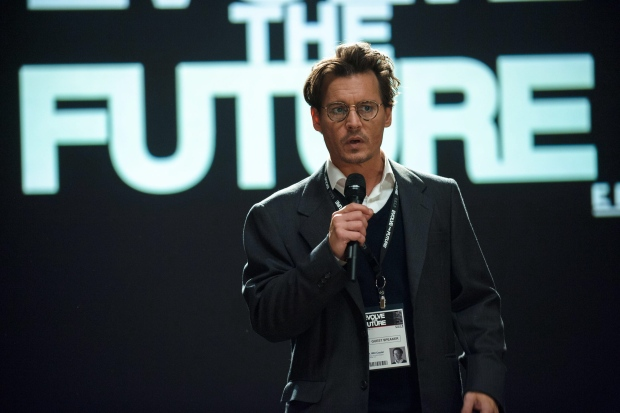 Johnny Depp in a scene from Transcendence