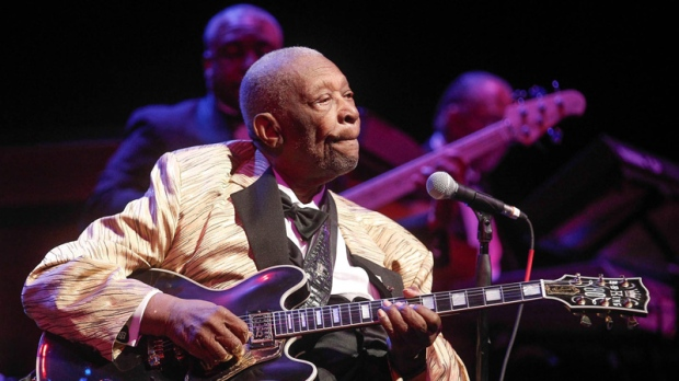 B.B. King performs in St. Louis, Missouri