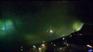 Extended: CN Tower, Niagara Falls turn green